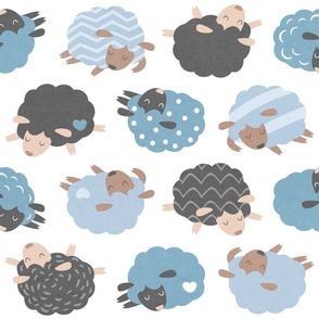 Sleepy Sheep Blue