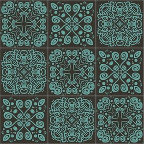 Dreamy Spanish Tiles-9square