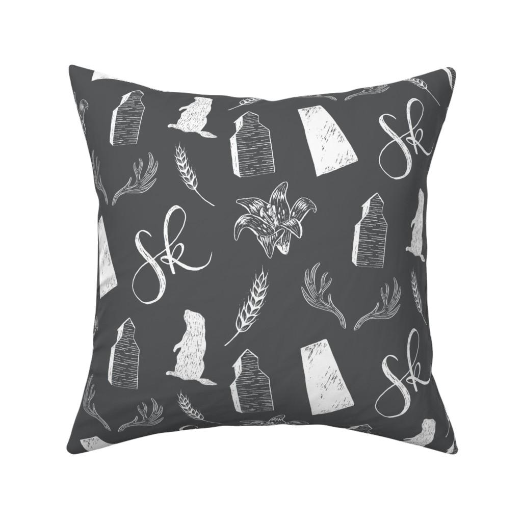 Catalan Throw Pillow featuring Prairies - Dark - Large by courtneyrosedesign