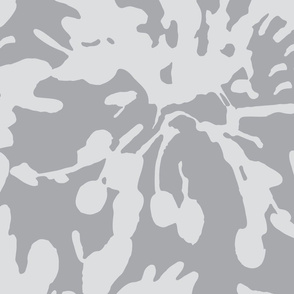 Large Scale  abstract floral  Pearl Gray Grey|| Modern Flower Home Decor Spots Dots _ Miss Chiff Designs
