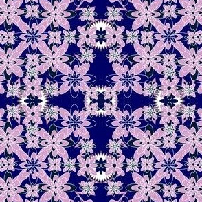 Orchid And Navy Fabric Challenge