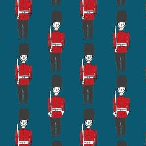 london soldier // palace guards tourist england fabric navy