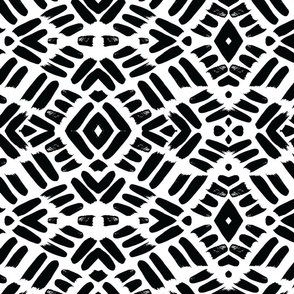 Onyx Diamond Brushwork Basketweave