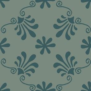 Greek Tile - Teal, Spruce