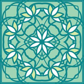 Lotus Hawaiian Quilt