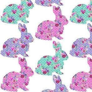 "Mulit Bunny Polka Dot Bouquet 3"""