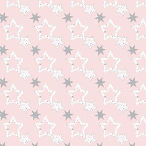 Stars for January on blush
