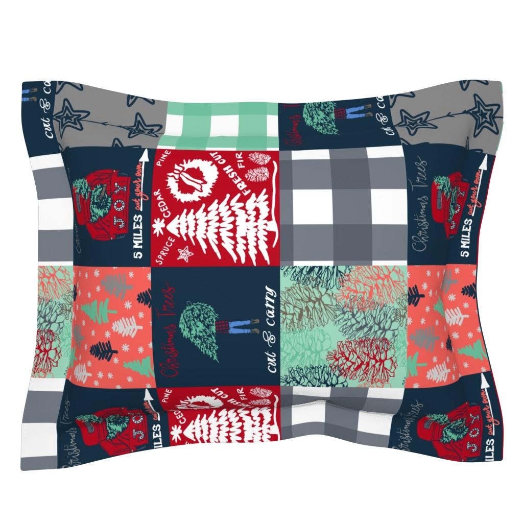 Sebright Pillow Sham featuring Christmas Blanket /90 by fat_bird_designs