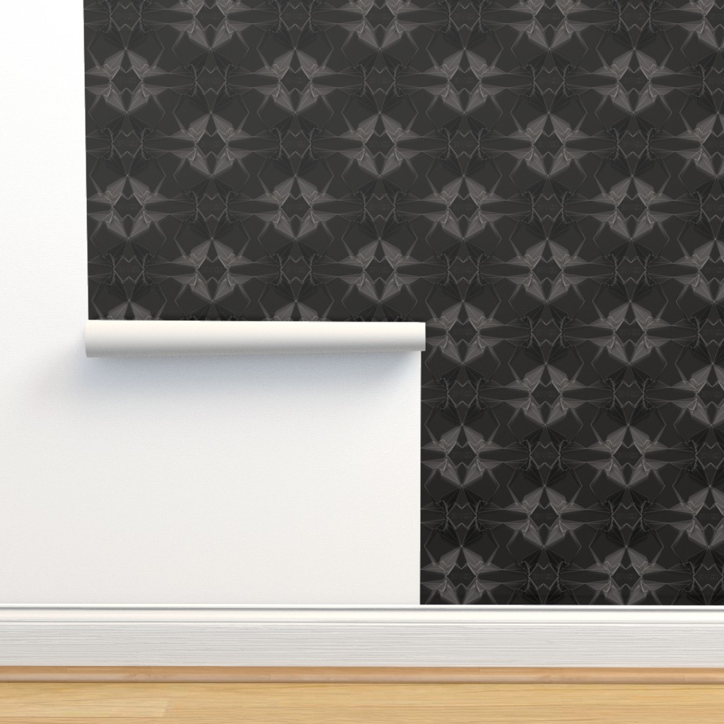Isobar Durable Wallpaper featuring Origami Geo Cranes by xoxotique
