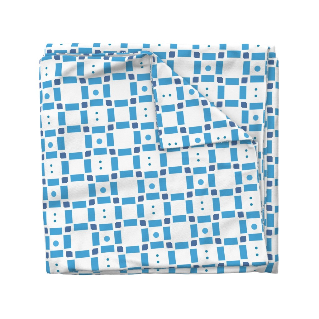 Wyandotte Duvet Cover featuring Erica Lindberg Sunfish_blue check3 by erica_lindberg_designs