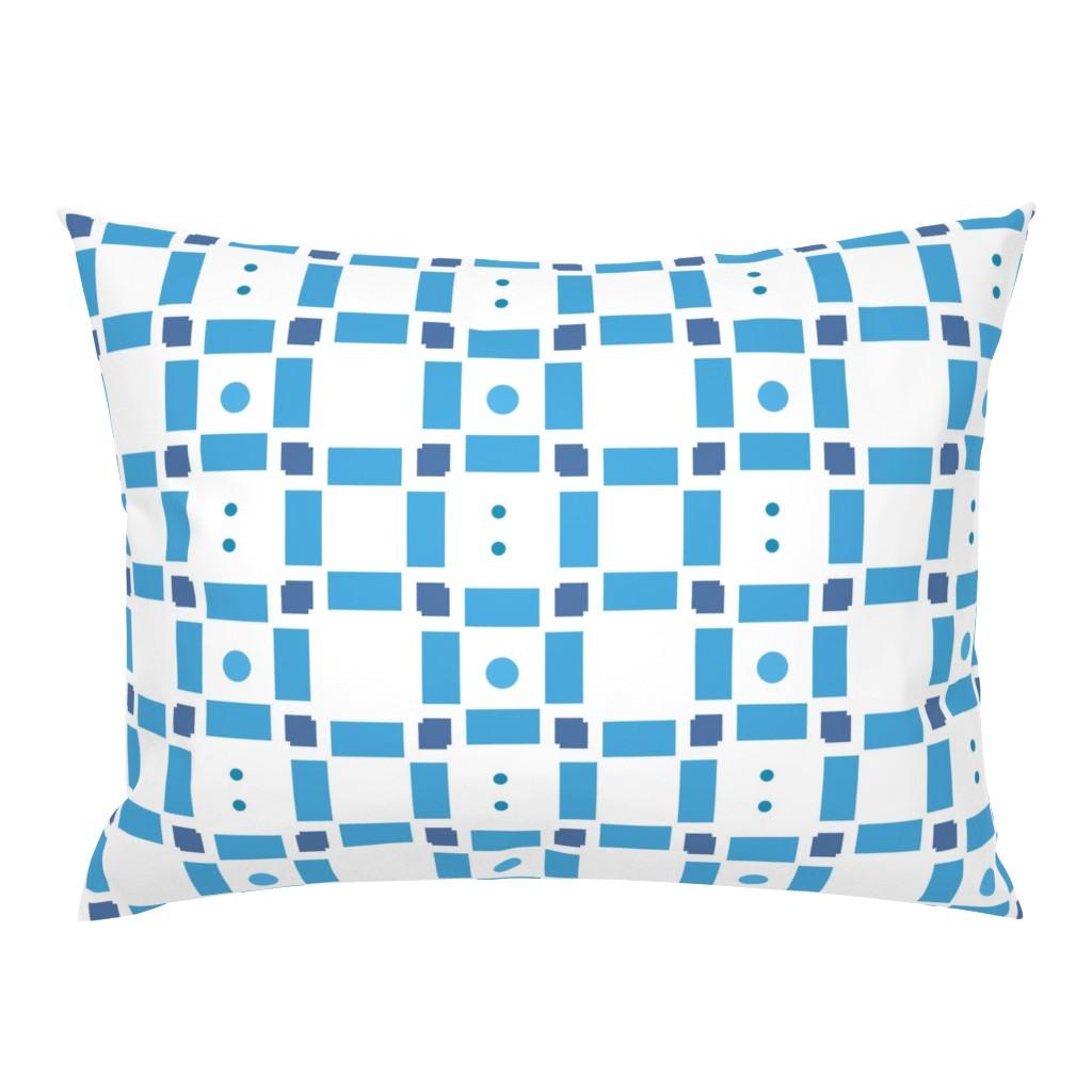 Campine Pillow Sham featuring Erica Lindberg Sunfish_blue check3 by erica_lindberg_designs