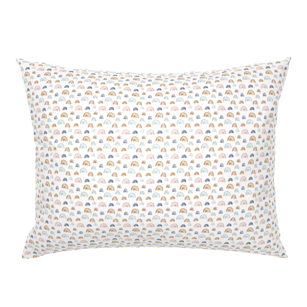 """Campine Pillow Sham featuring Scattered Rainbows .5"""" Earth Tones by anniemontgomerydesign"""