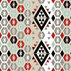 Boho Wedding Star Kilim Pattern