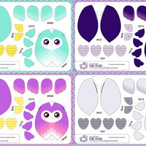 Cut & Sew Owl Plush Bundle