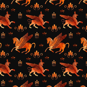 red figure pegasus and gryphons