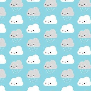Happy and Sad Kawaii Clouds