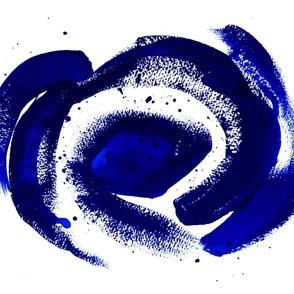 Blue and white Delhi tea towel