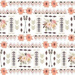 Boho Aztec Coordinate - Tribal Flowers Southwest Baby Girl Nursery GingerLous