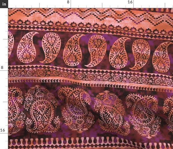 Fabric by the Yard Bodhi Paisley Orange