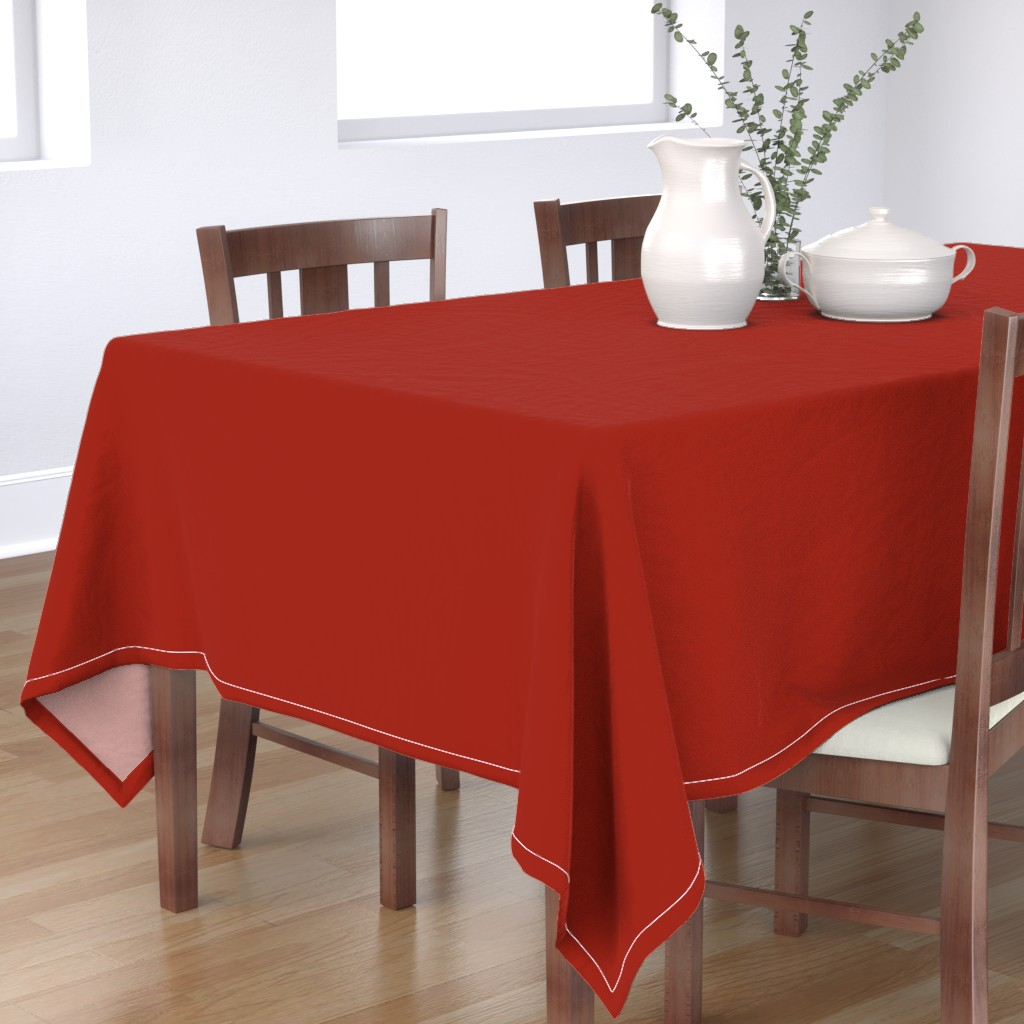 Bantam Rectangular Tablecloth featuring Turkey Yum Red Solid by betz