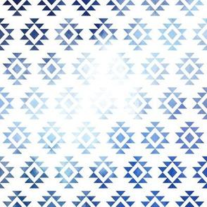 Distressed Grunge Aztec // Blue