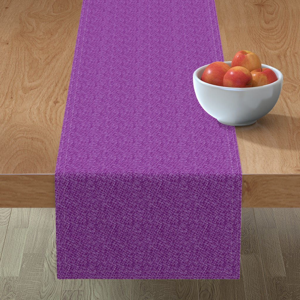 Minorca Table Runner featuring Crosshatch in Berry by wildnotions