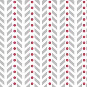 Chevron in Grey and Red