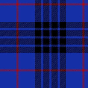 """Blue MacKay or Morgan tartan, 6"""" bright"""