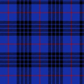 """Blue MacKay or Morgan tartan, 3"""" bright"""