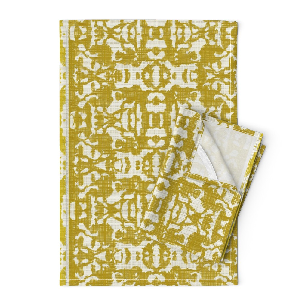 Orpington Tea Towels featuring Golden Temple Linen by zendytechstyle