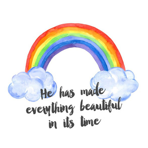 he has made everything - lovey 18x18