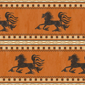 Grecian Fantasy Steed WALLPAPER BORDER ©Julee Wood
