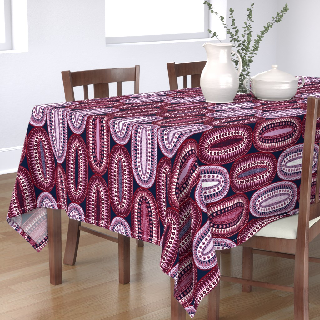 Bantam Rectangular Tablecloth featuring Cherry Bomb by spellstone