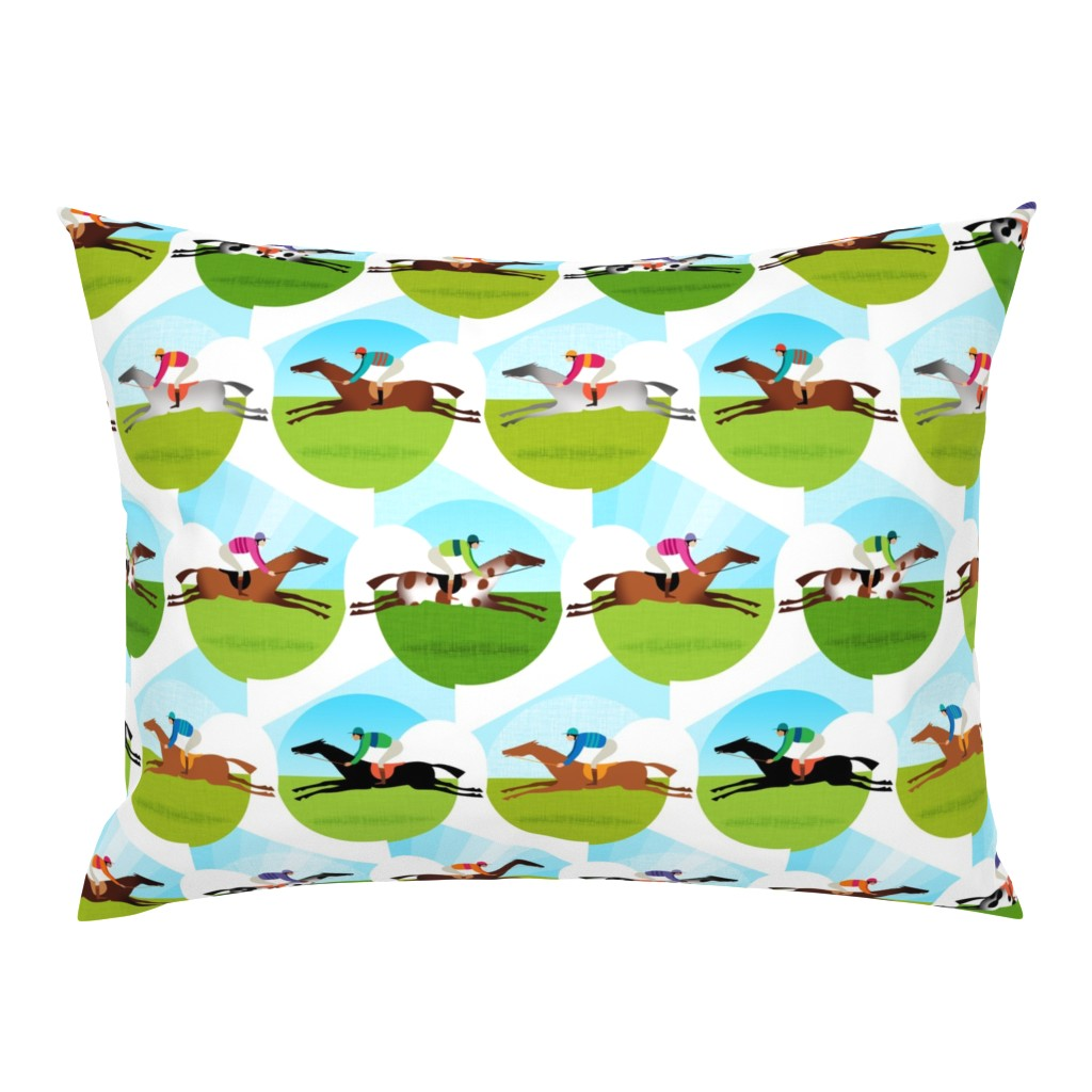 Campine Pillow Sham featuring Race Day by spellstone