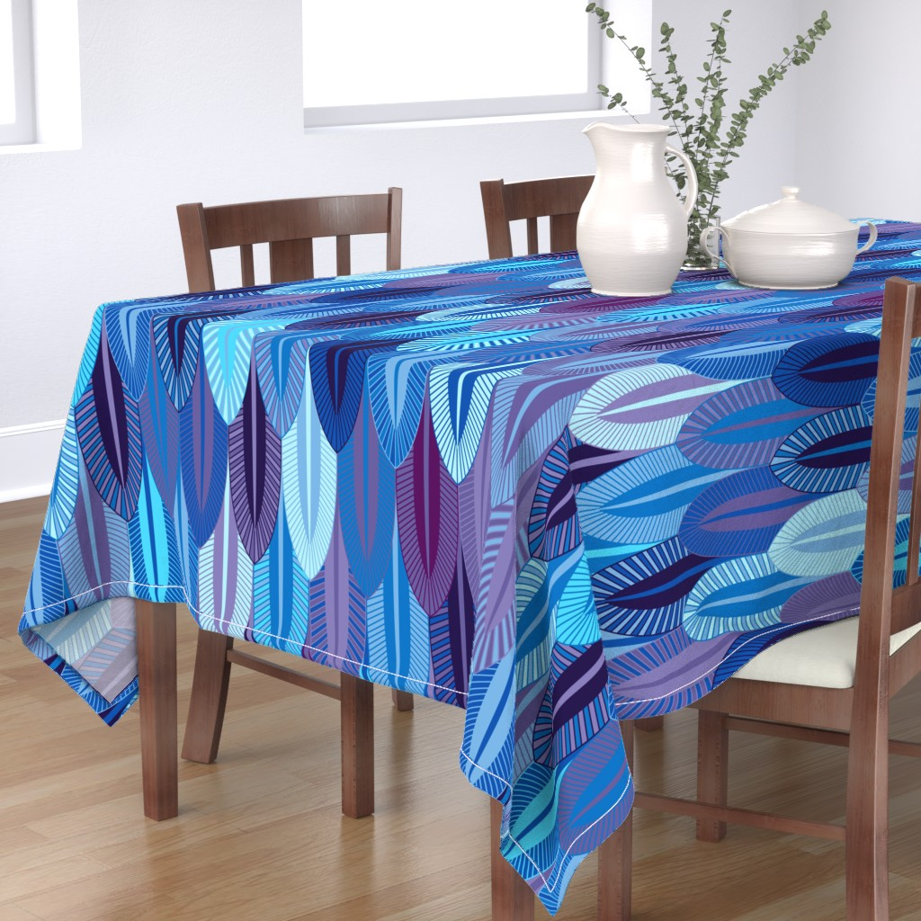 Bantam Rectangular Tablecloth featuring Big Blue by spellstone