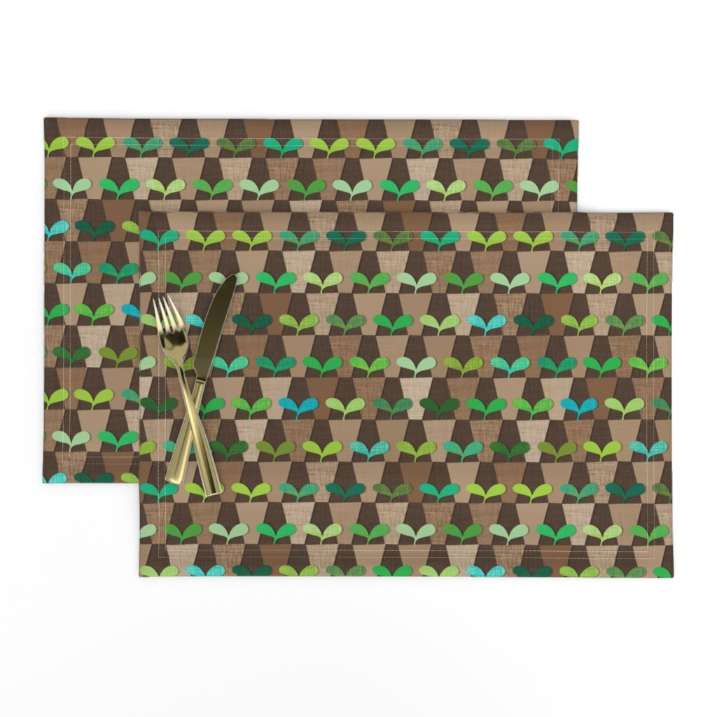 Lamona Cloth Placemats featuring Grandmother's Pot Garden by spellstone