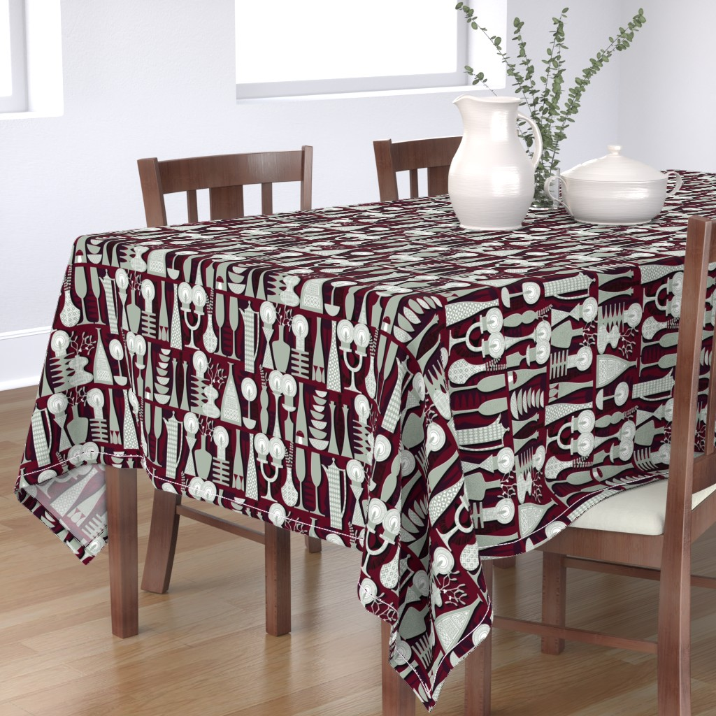 Bantam Rectangular Tablecloth featuring Candlelight by spellstone