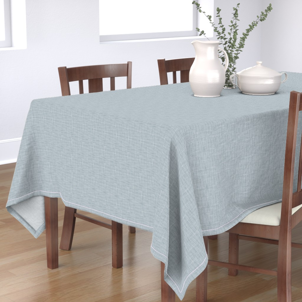 Bantam Rectangular Tablecloth featuring Silver by spellstone