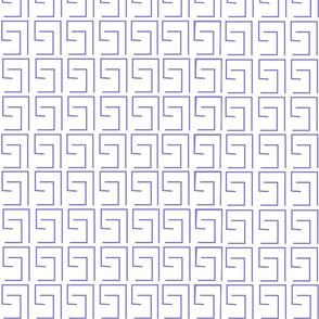 Purple Greek Keys
