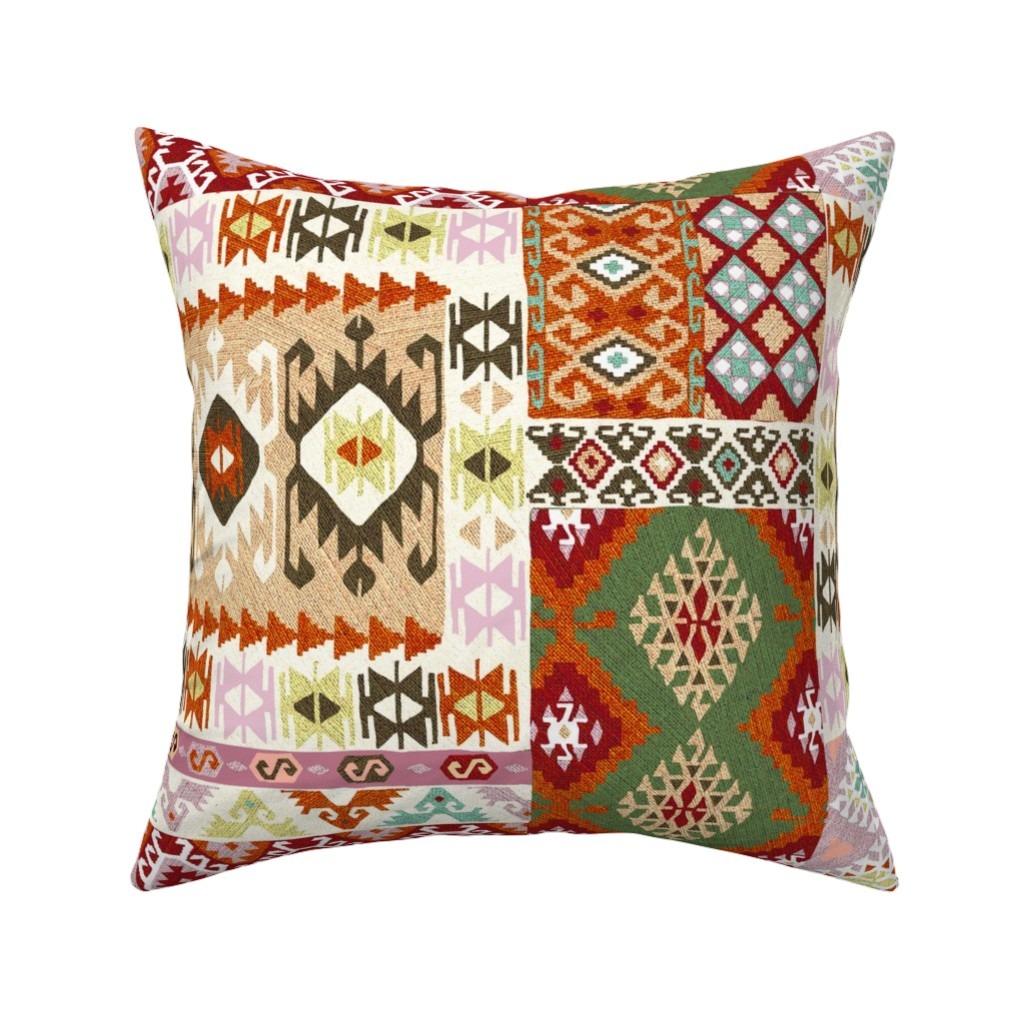 Catalan Throw Pillow featuring kilim by gaiamarfurt