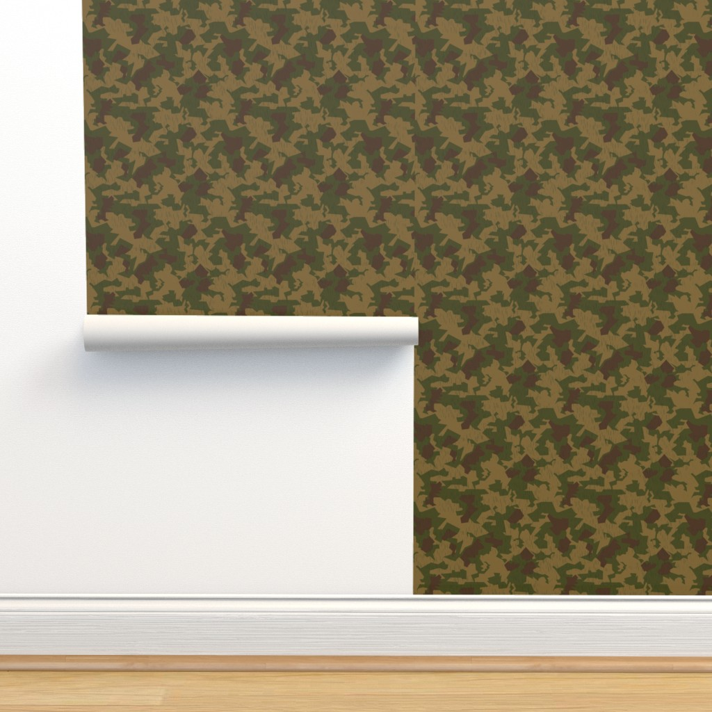 Isobar Durable Wallpaper featuring Luftwaffe Splinter B Sumpf Colorway by ricraynor