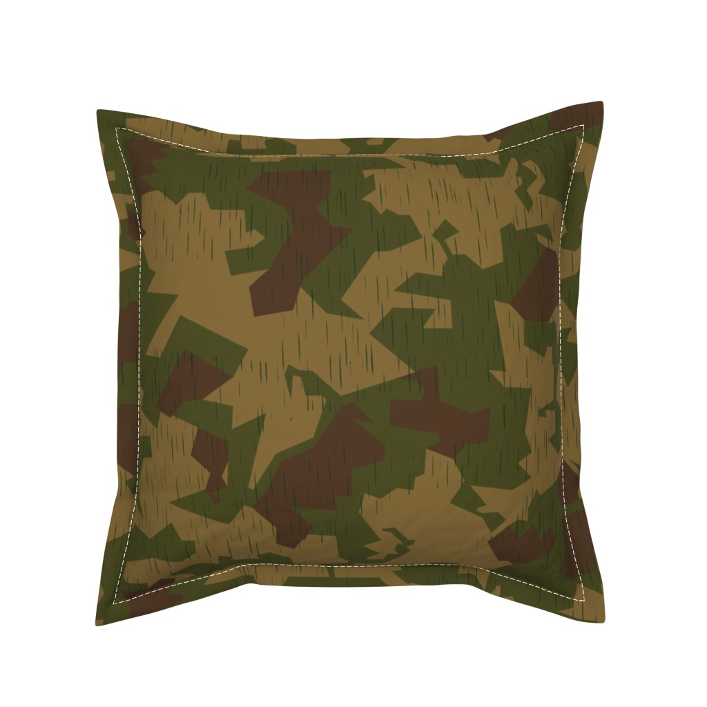 Serama Throw Pillow featuring Luftwaffe Splinter B Sumpf Colorway by ricraynor
