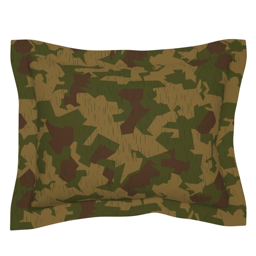 Sebright Pillow Sham featuring Luftwaffe Splinter B Sumpf Colorway by ricraynor