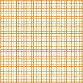 Orange Graph Paper