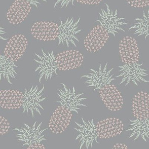 smaller scattered pi-napples - peach, cucumber, grey