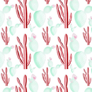 Preppy Cactus  // pink and green