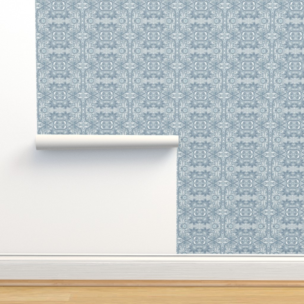 Isobar Durable Wallpaper featuring Snowflower Serenade by edsel2084