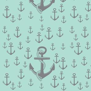 anchor - teal