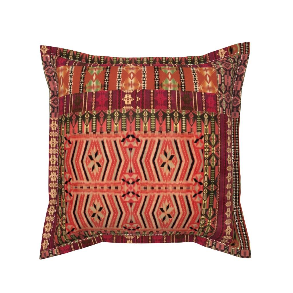 Serama Throw Pillow featuring kilim me softly by hypersphere