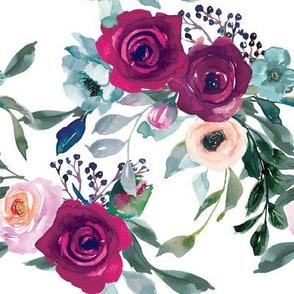 Marsala and Pink Floral Arrangement